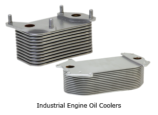 Large Industrial Engine Oil Cooler